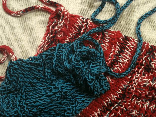 loom knit mesh bag - goodknitkisses